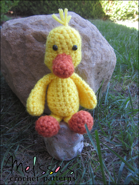 Puddles the Tiny Duck by Melissa's Crochet Patterns