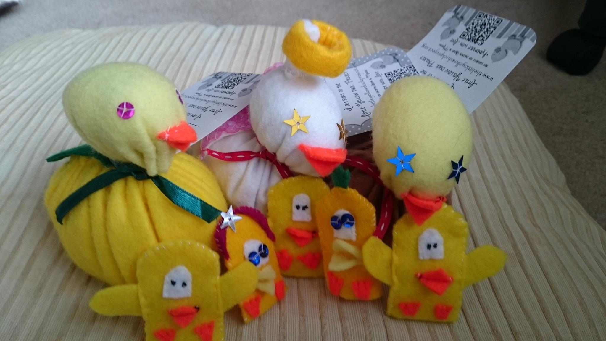 Karen's handmade ducks ready to visit Colchester Zoo and find new homes!